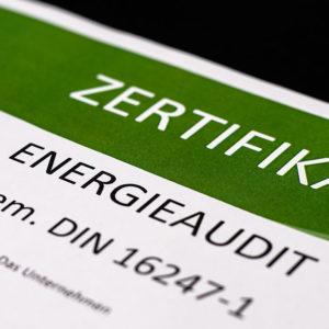 Urkunde Energieaudit