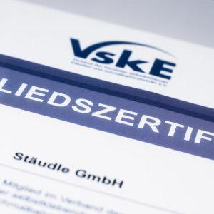 Urkunde VSK